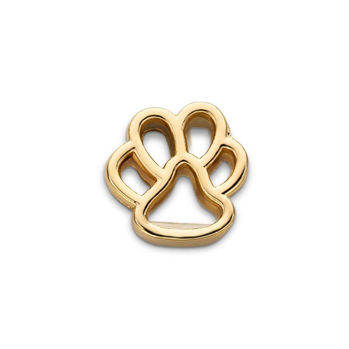 MESH CHARM FOOT DOG GOLD