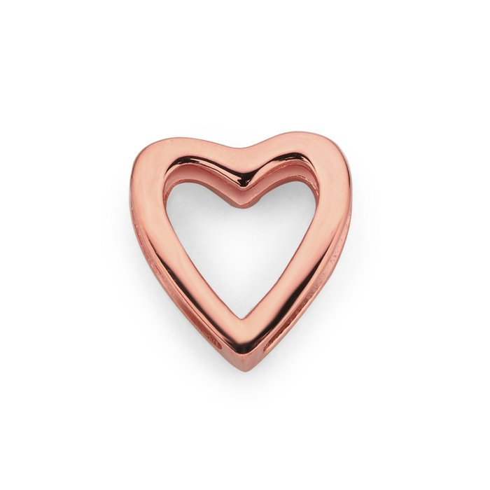 MESH CHARM OPEN HEART ROSÉ GOLD