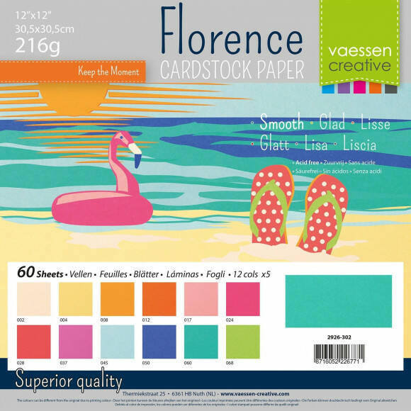 Florence Cardstock smooth 30,5x30,5cm 12x5 Summer (2926-302)
