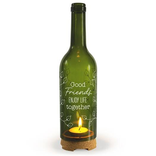 Wine Candle - good friends