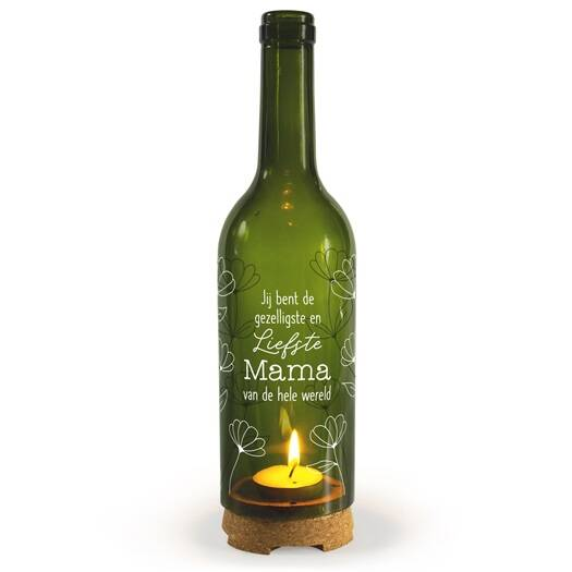 Wine Candle - Liefste Mama